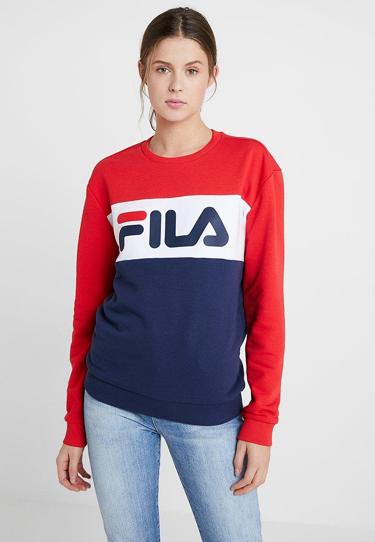 Fila Tall LEAH CREW - Bluza - black iris/true red/bright white