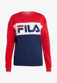 Fila Tall - LEAH CREW - Sweatshirt - black iris/true red/bright white - 4
