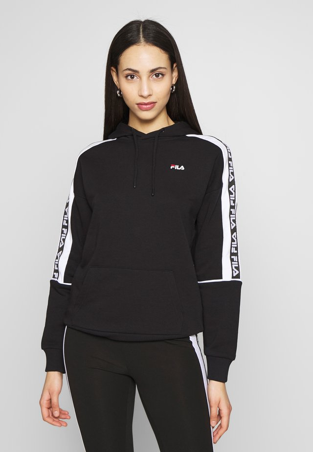 TAVORAHOODY - Sweat à capuche - black/bright white