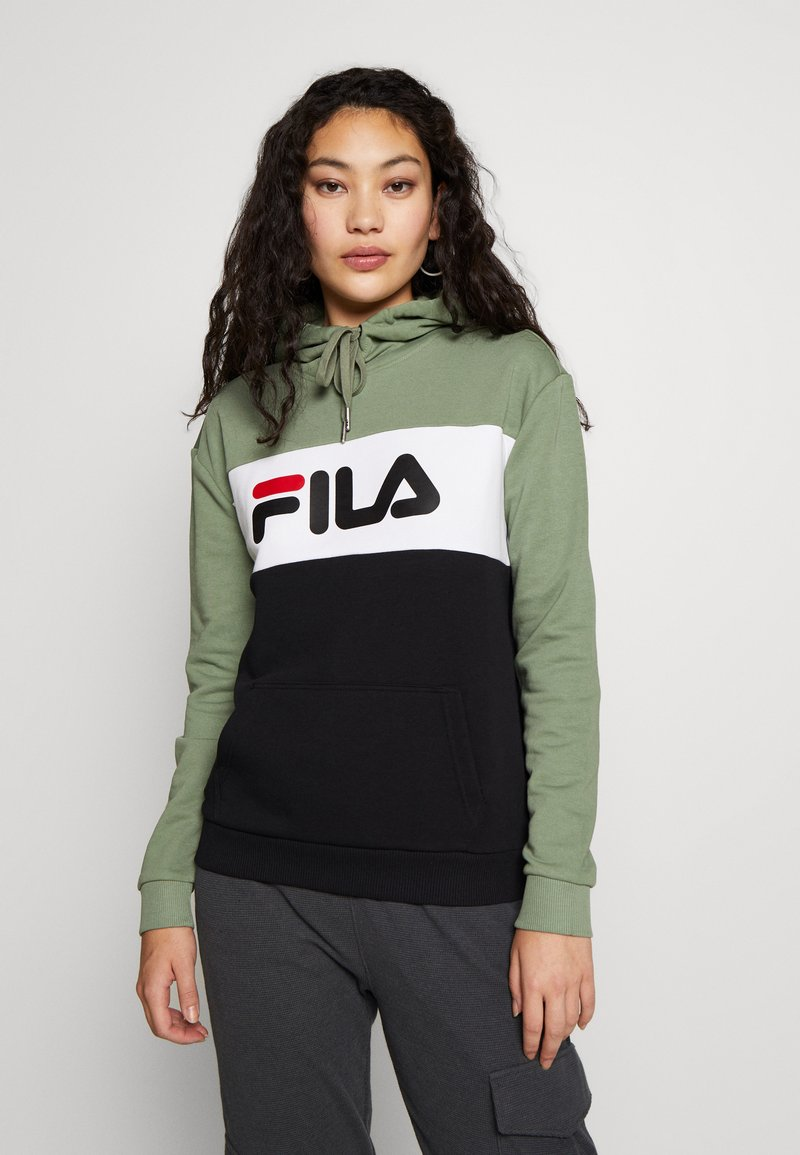 Fila Tall - LORI HOODY - Hoodie - sea spray/black/bright white