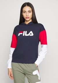Fila Tall - BARRET CROPPED HOODY - Jersey con capucha - dark blue - 0