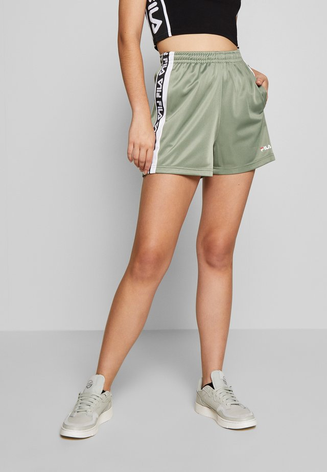 TARIN HIGH WAIST - Shorts - sea spray/bright white