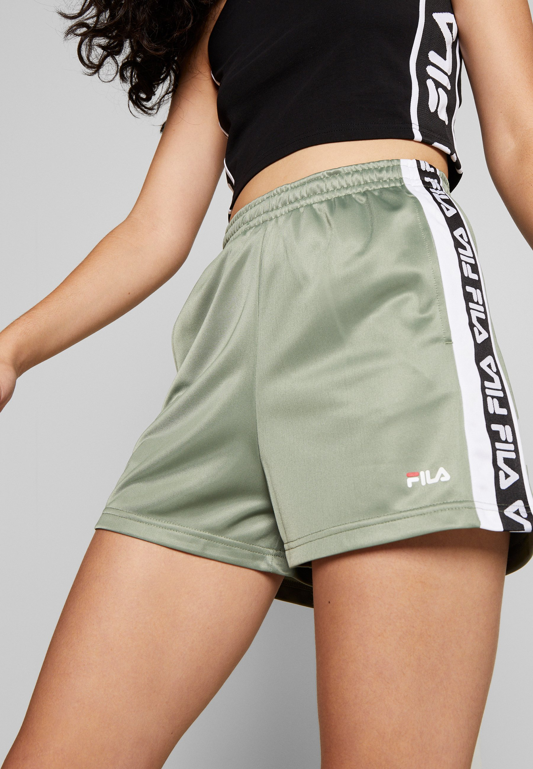 Fila Tall Tarin High Waist - Shorts Sea Spray/bright White