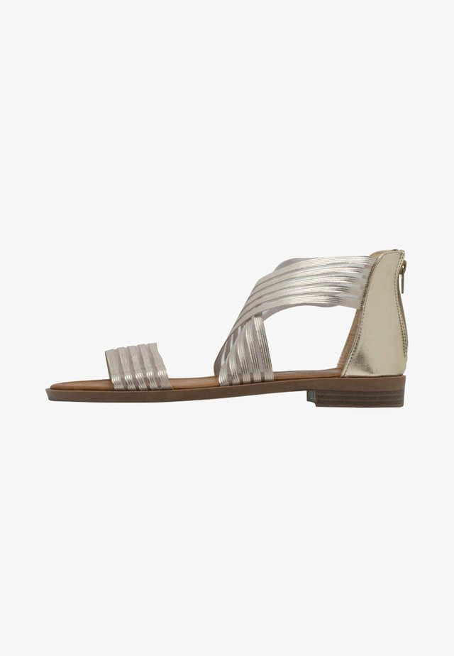 CHRISTINA - Ankle cuff sandals - gold