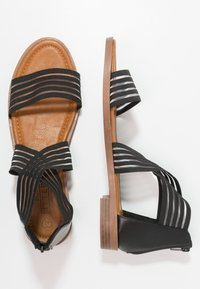 Fitters - CHRISTINA - Ankle cuff sandals - black - 1