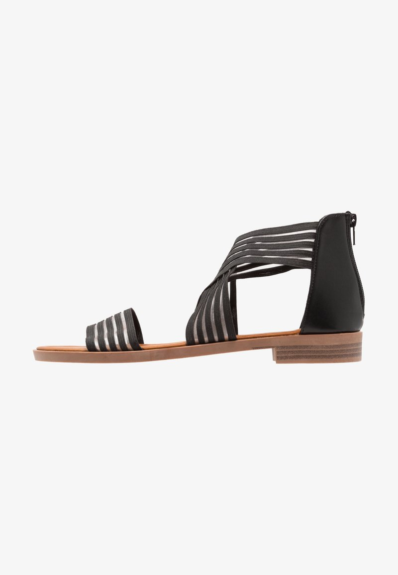 Fitters - CHRISTINA - Ankle cuff sandals - black