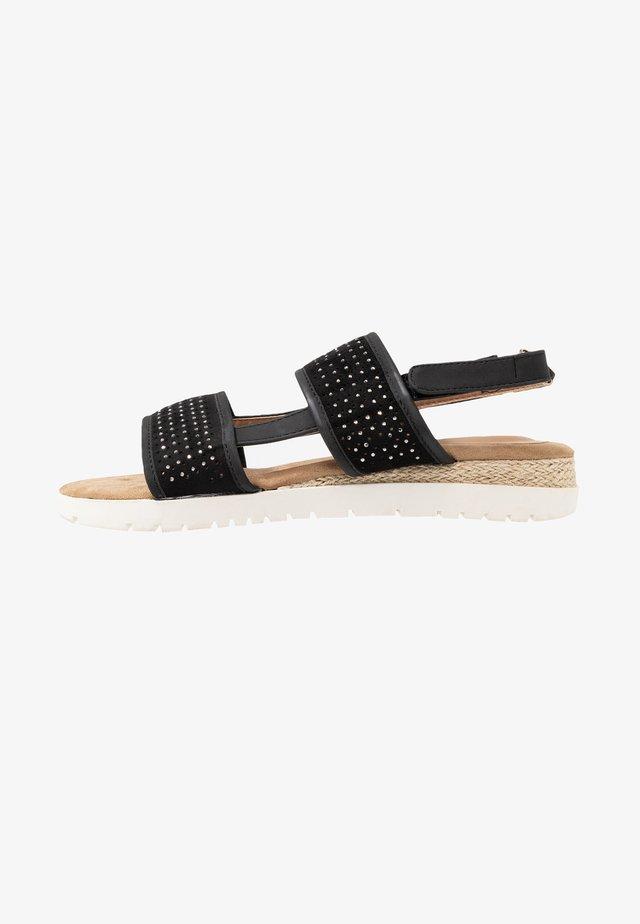 JULIA - Korkeakorkoiset sandaalit - black