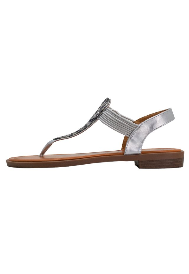 FRIDA - T-bar sandals - grey
