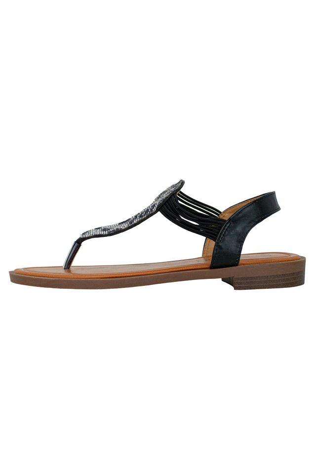 FRIDA - T-bar sandals - black