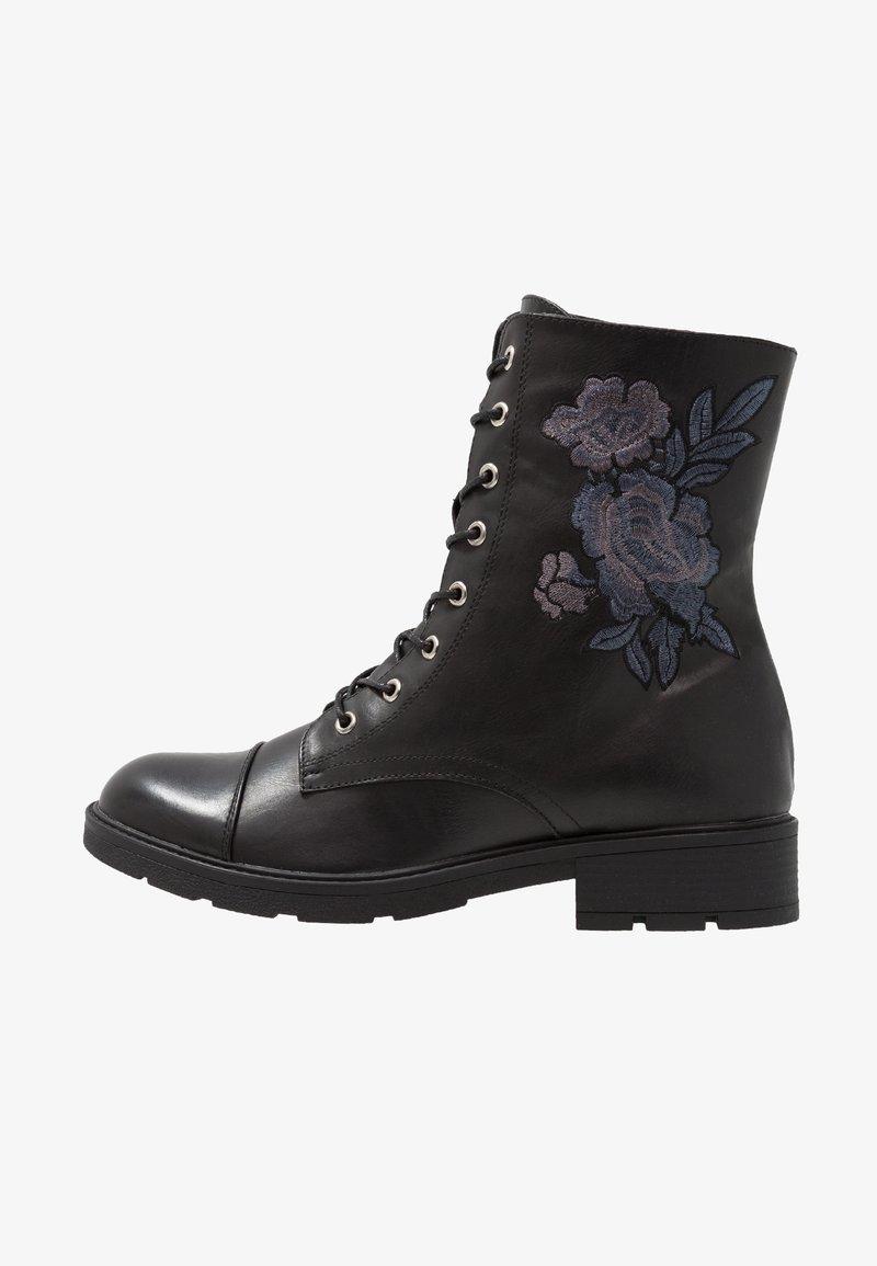 Fitters - SILVANA - Snørestøvletter - black