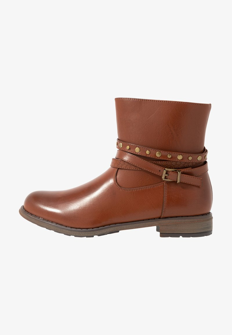Fitters - DANIELA - Cowboy/biker ankle boot - brandy