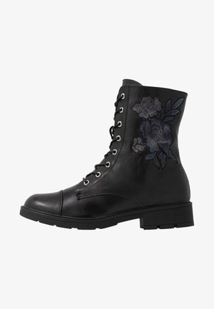 SILVANA - Lace-up ankle boots - black