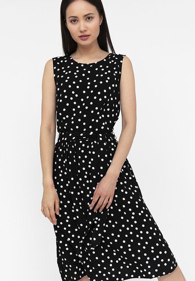 MIT PUNKTEMUSTER - Day dress - black