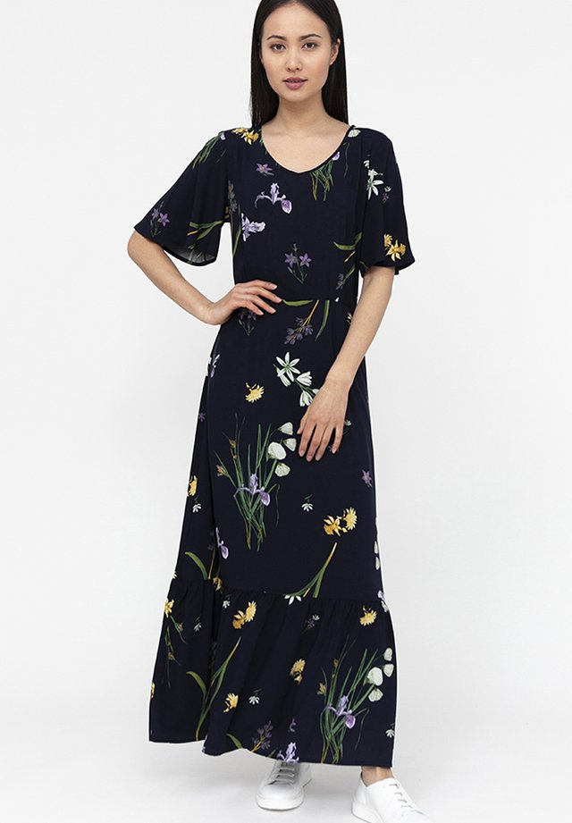 MIT ZARTEM BLUMENMUSTER - Maxi dress - cosmic blue