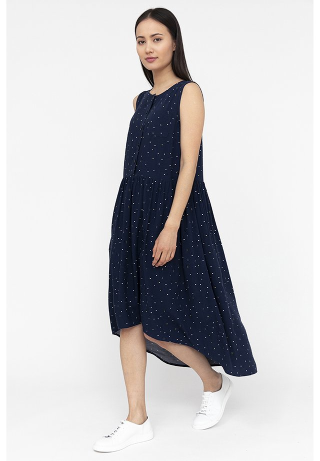 FINN FLARE MIT ASYMMETRISCHEM SCHNITT - Day dress - cosmic blue