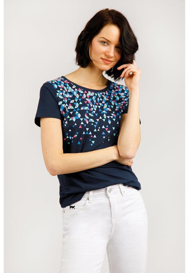MIT MEHRFARBIGEM FRONTDRUCK - T-shirt imprimé - cosmic blue