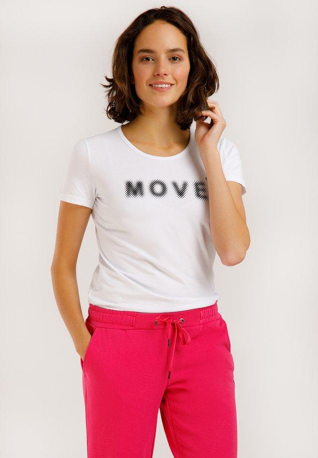 MIT DEM BRUST-PRINT - T-shirt imprimé - white