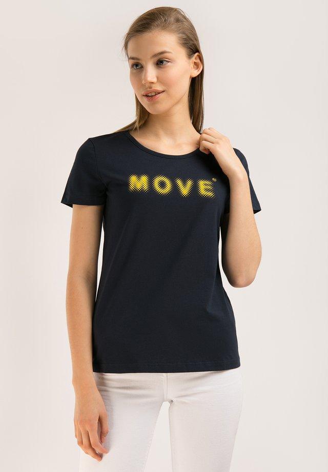MIT DEM BRUST-PRINT - T-shirt imprimé - cosmic blue