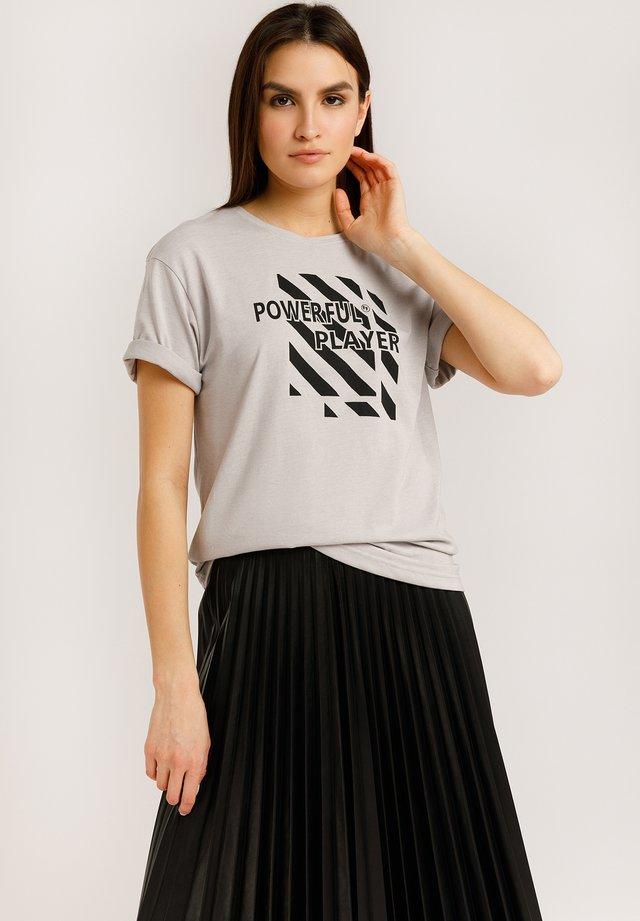 T-shirt imprimé - light silver mg