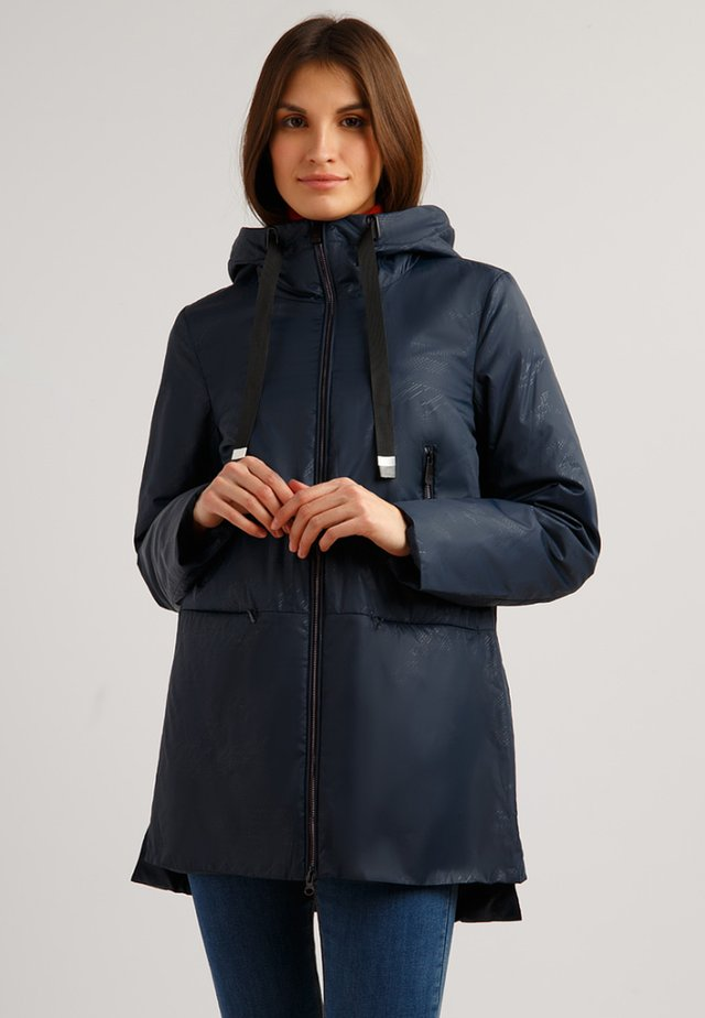 MIT PRAKTISCHER KAPUZE - Short coat - cosmic blue