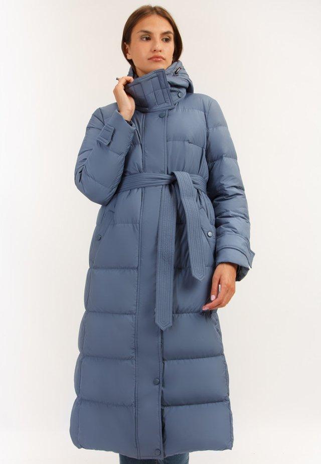 MIT BINDEGÜRTEL - Down coat - blue