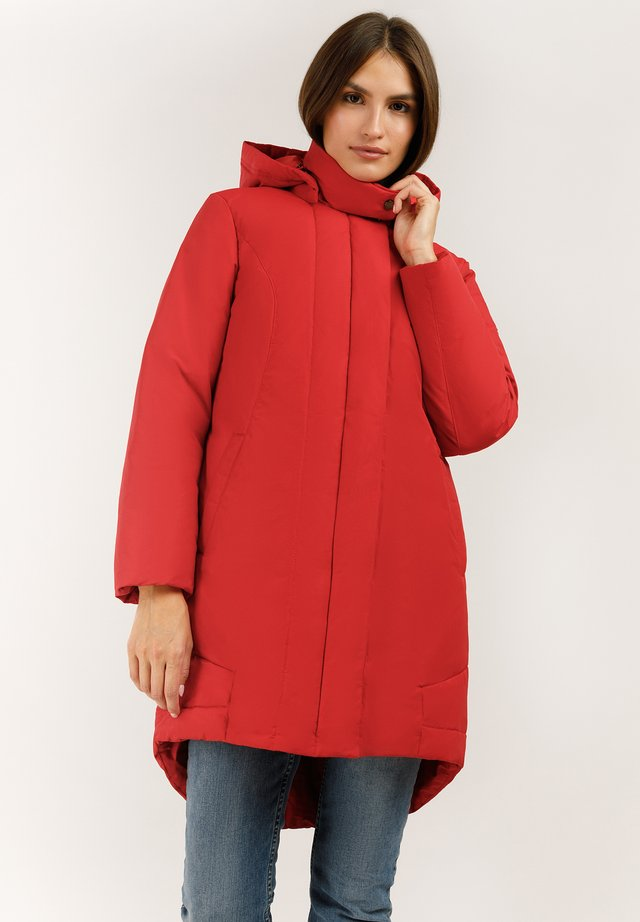 MIT GROSSER KAPUZE - Down coat - red