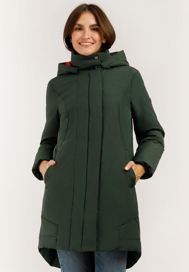 MIT GROSSER KAPUZE - Down coat - myrtle