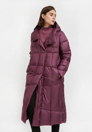 Down coat - purple