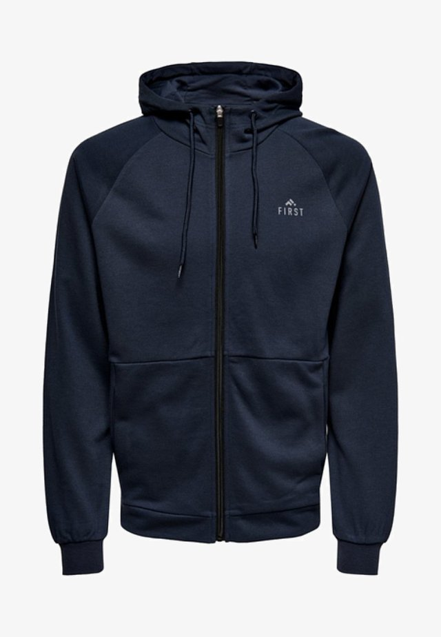 FIRST - Mikina na zip - Navy