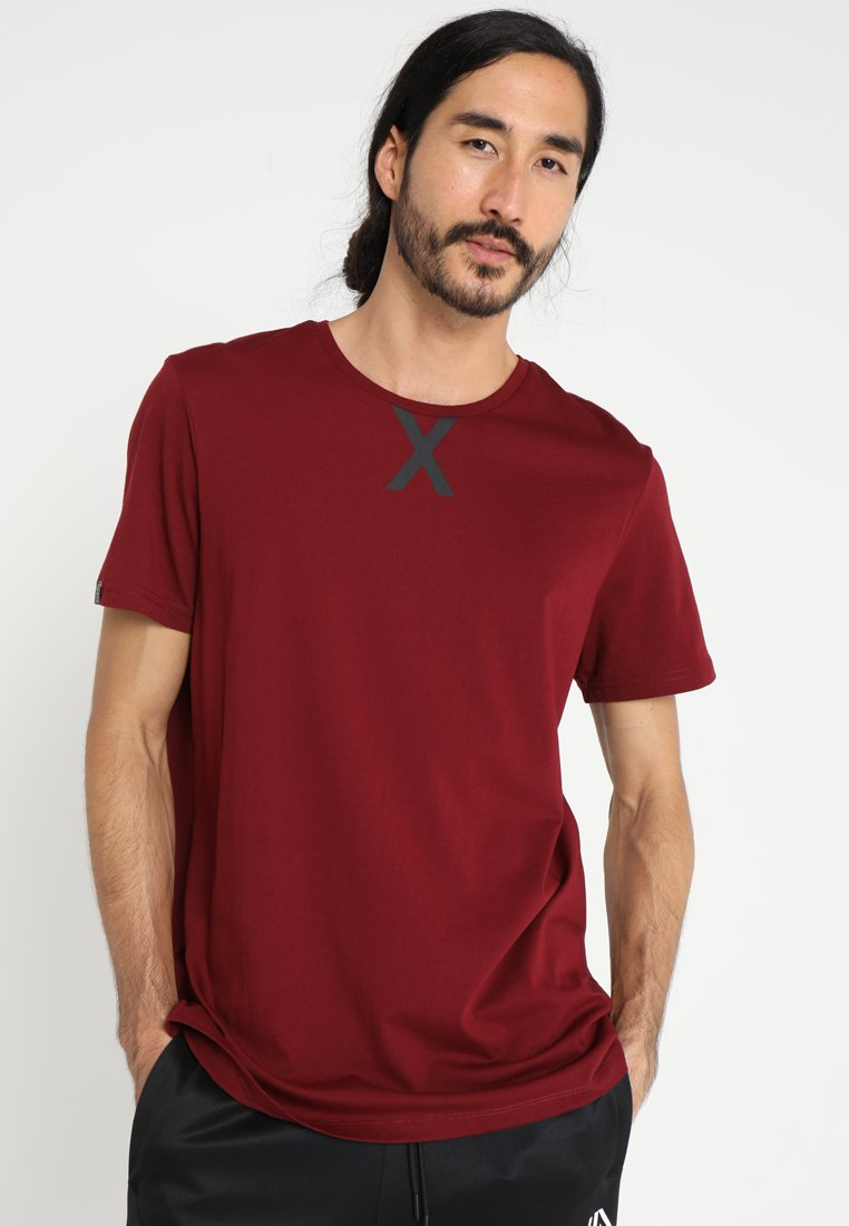FIRST - FRSRAY LOOSE TEE - T-shirt print - cabernet/black