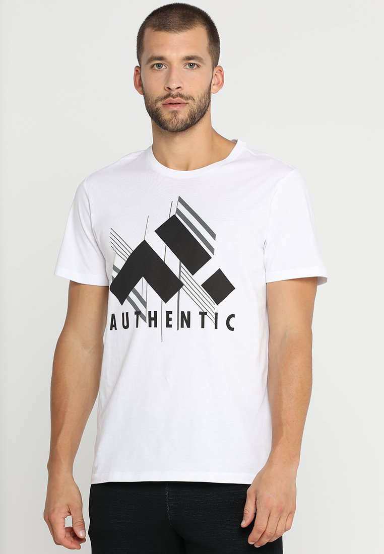 FIRST - ZANE REGULAR TEE - Print T-shirt - white/black