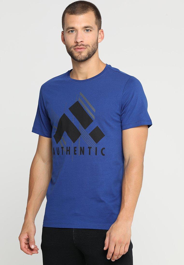 FIRST - ZANE REGULAR TEE - Print T-shirt - sodalite blue/black