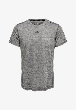 Print T-shirt - medium grey melange