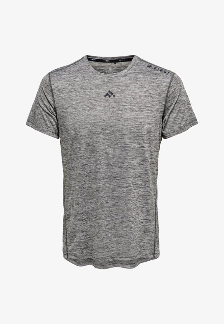 FIRST - T-shirt z nadrukiem - medium grey melange