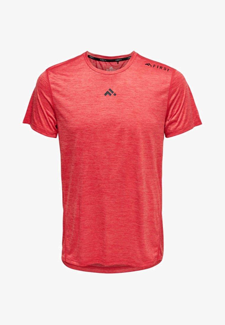 FIRST - T-shirt z nadrukiem - tomato