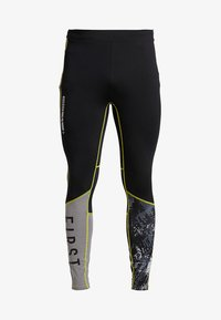 FIRST - FRSASK TRAINING  - Legginsy - black/blazing yellow - 5