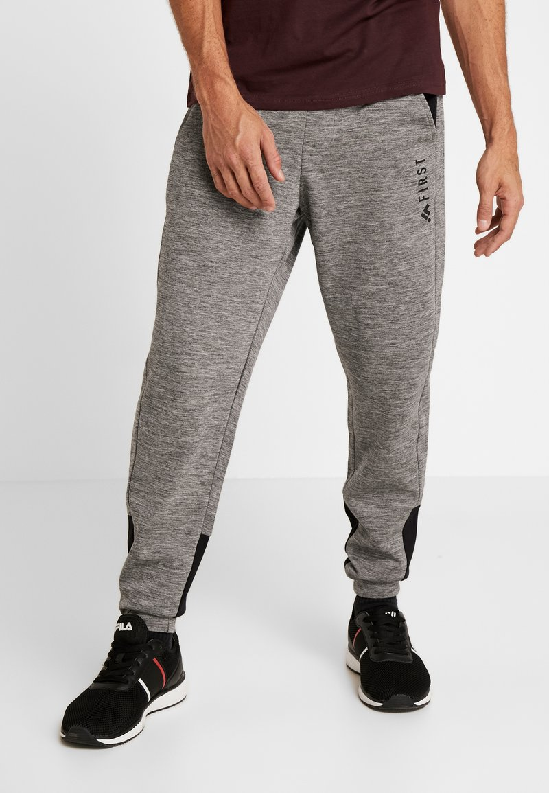 FIRST - FRSDYLAN PANTS - Spodnie treningowe - medium grey melange