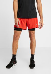 FIRST - FRSSIDEL PERFORMANCE SHORTS - Pantalón corto de deporte - tomato - 0