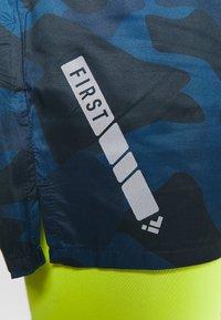 FIRST - FRSDONALD PERFORMANCE SHORTS - Krótkie spodenki sportowe - blue nights/azid lime - 5