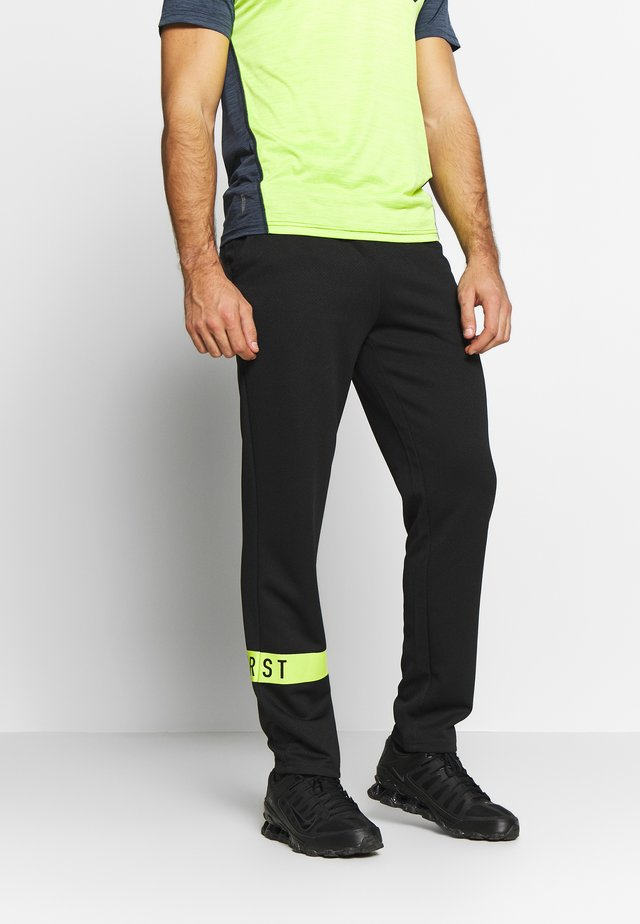 FRSSTALO PANTS - Tracksuit bottoms - black/azid lime