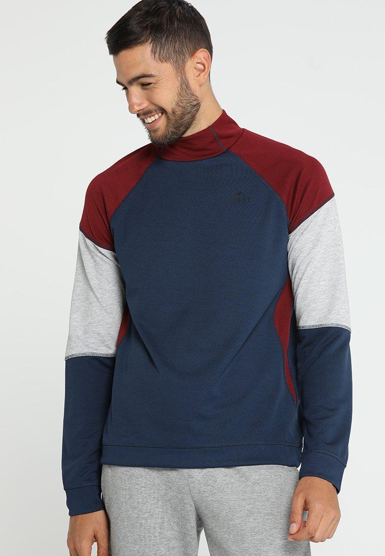 FIRST - FRSCEDRICK HIGH NECK - Langarmshirt - dress blues/cabernet