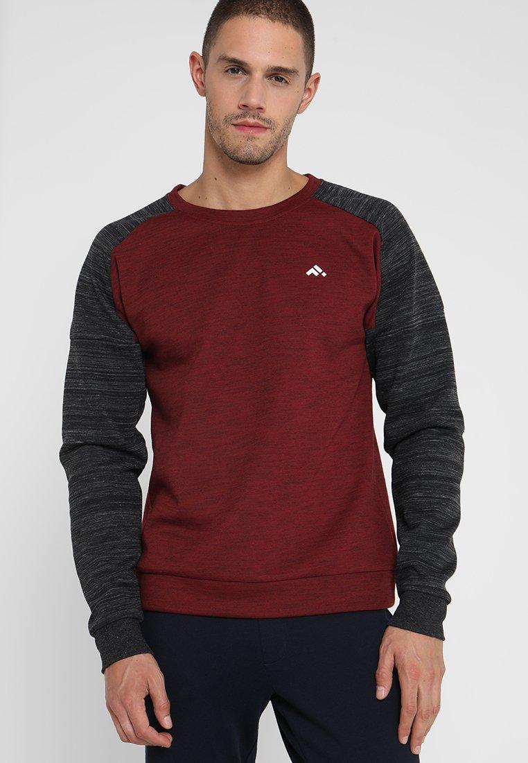 FIRST - FRSNOAH CREW NECK - Sweatshirt - carbernet melange