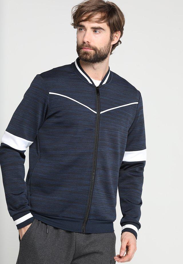 FRSNOLAN BOMBER - Zip-up hoodie - blue nights melange/white