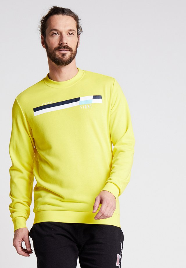FRSLIONEL TECH HIGH CREW - Sweatshirt - blazing yellow