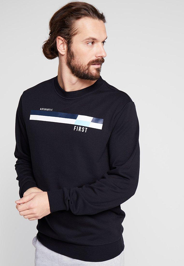 FIRST - FRSLIONEL TECH HIGH CREW - Sweatshirts - black