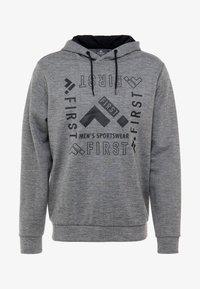 FIRST - HOOD - Bluza z kapturem - medium grey melange - 3