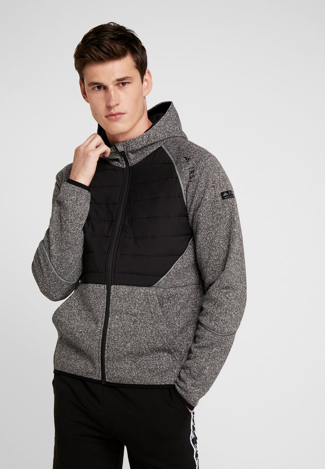 ALLEN HOOD ZIP JACKET - Felpa aperta - medium grey melange