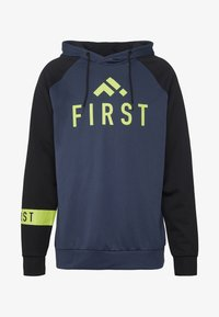 FIRST - FRSSTALO HOOD SWEAT - Mikina s kapucí - blue nights/black/azid lime - 4