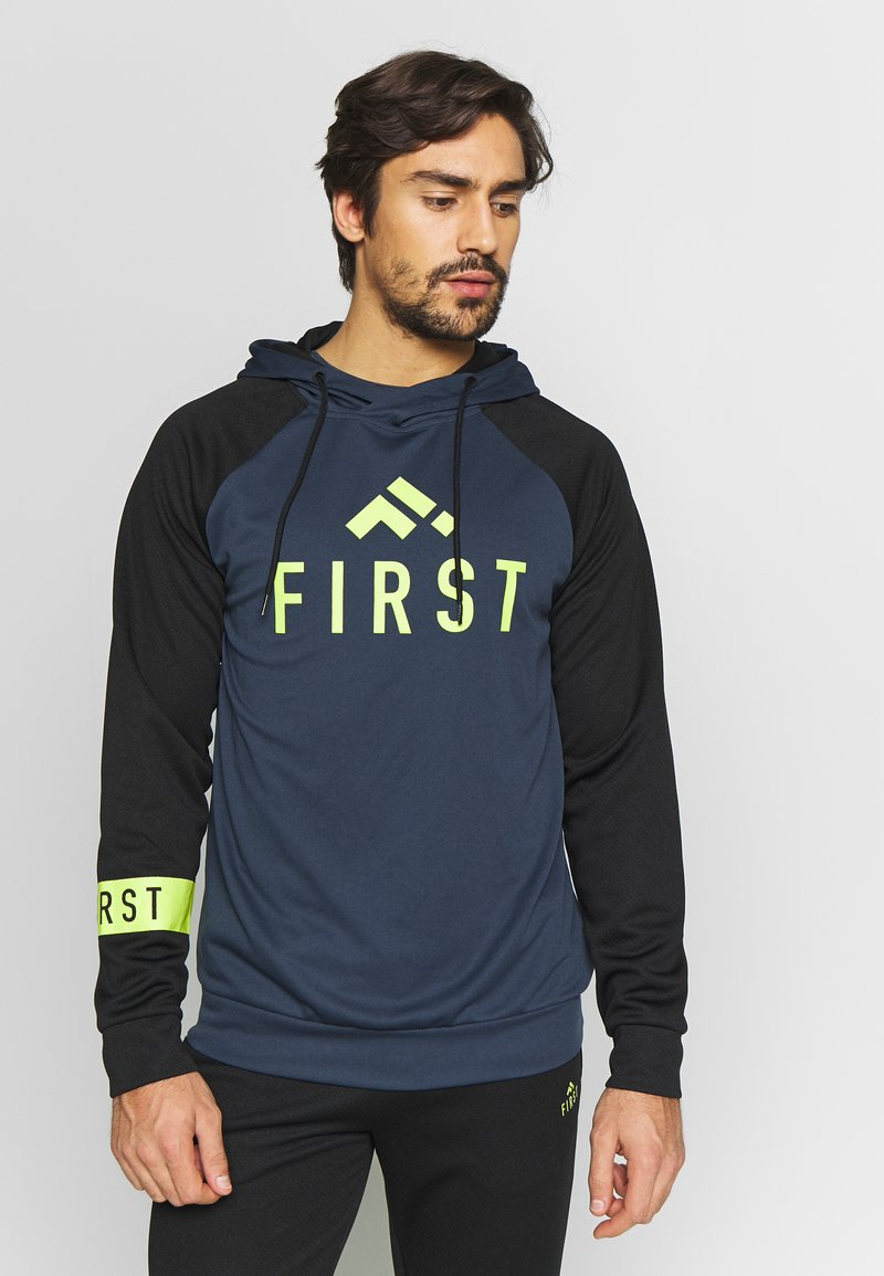 FIRST - FRSSTALO HOOD SWEAT - Mikina s kapucí - blue nights/black/azid lime