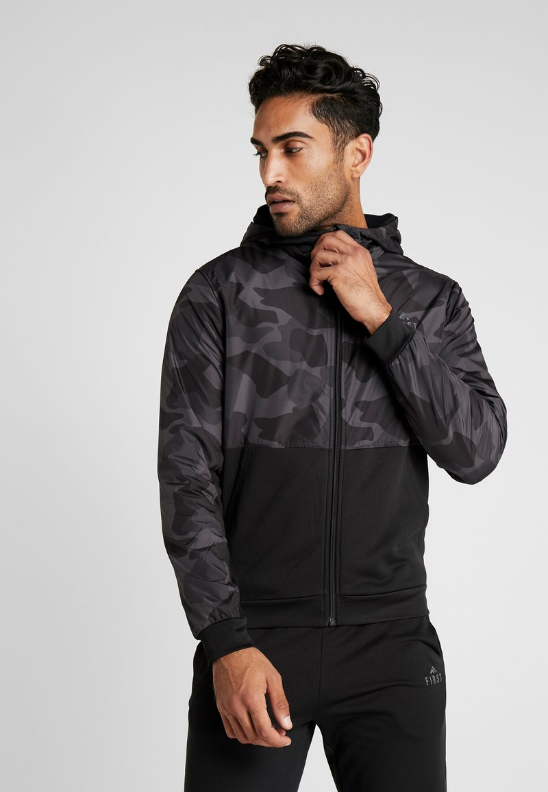 FIRST - FRSANDREE MIX ZIP HOOD - Giacca in pile - black